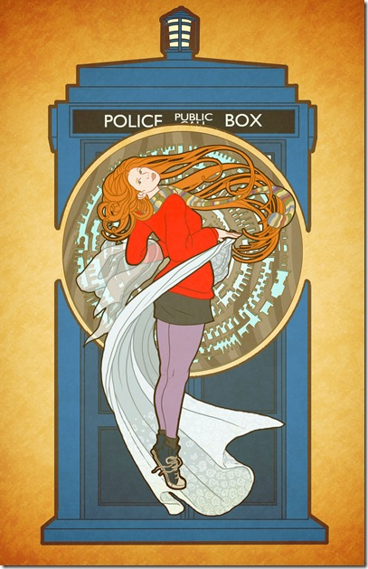TARDIS Alphonse Mucha